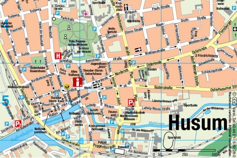 Husum Karte.Busparkplatze Husum Tourismus